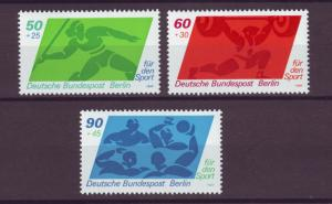 J20753 Jlstamps 1980 berlin germany set mnh #9nb168-70 sports