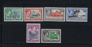 SOLOMON ISLANDS SCOTT #67/69/70/72/74/ 1939-51 GEORGE VI PARTIAL SET  MINT NH/LH