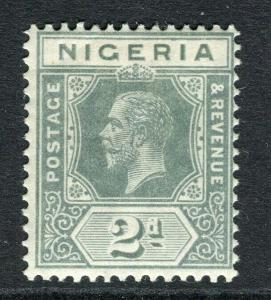 NIGERIA; 1912 early GV Crown CA issue fine Mint hinged Shade of 2d. value