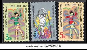 UKRAINE - 1992 XXV OLYMPIC GAMES BARCELONA '92 - 3V - MINT NH