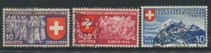 Switzerland - Scott 250-52 - National Expo. Issue -1939 - FU - Set of 3 Stamp