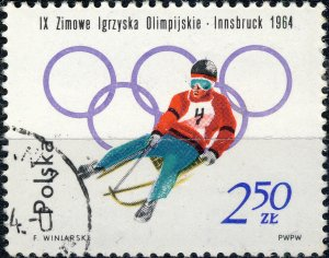 POLAND / POLEN - 1964 Mi.1462A 2.50Zl Winter Olympics (Luge) - VF Used (b)