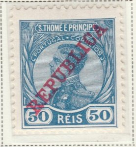 Portugal ST. THOMAS AND PRINCE ISLANDS 1912 50r MH* A5P55F41