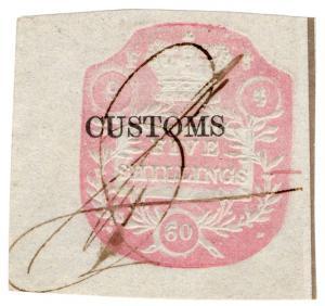 (I.B) QV Revenue : Customs Duty 5/- (Die F)