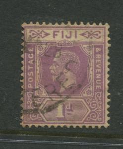 Fiji - Scott 96 - KGV - Definitive - 1927 - Used - Single 1p Stamp