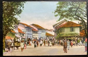 1913 Colombo Ceylon Picture Postcard cover To Shanghai China Market View