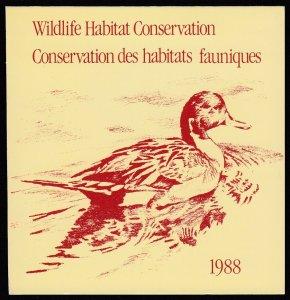 Canada, (Revenue, Wildlife) Unitrade FWH4, MNH booklet