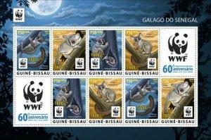 Guinea-Bissau - 2021 WWF 60 Years, Animal - 8 Stamp Sheet - GB210231h2