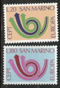 San Marino Scott 802-803 MNH** Europa 1973 set