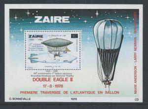 Zaire #1181 NH Aviation, Balloon, Zepelin - SS/Ovptd. & S...