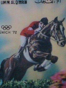UM-AL QIWAIN STAMP-1972- OLYMPIC GAME MUNICH'72 - AIRMAIL- 3-D STAMP MNH #8