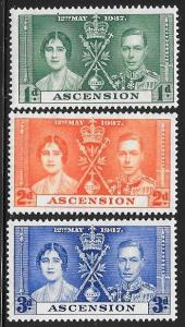 Ascension 37-39 Unused/Hinged Hinge Remnant - George VI Coronation