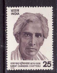 India-Sc#732-unused NH set-Writer-Chatterji-1976-