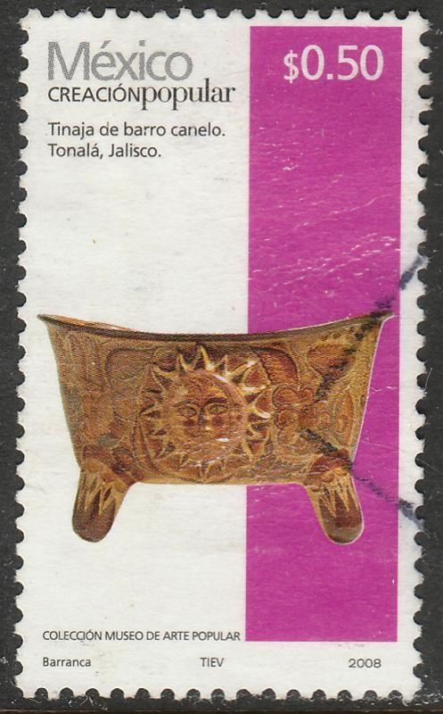 MEXICO 2488c, 50c HANDCRAFTS 2008 ISSUE. USED. F-VF.(1518)