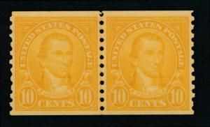 UNITED STATES 603 Mint NH VF Coil Line Pair