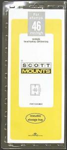 Scott Mounts Black,46 STRIP 265  (pkg 10) (01036B)
