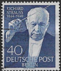 1954 Berlin 9N111 Richard Straus used
