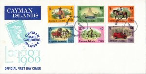 CAYMAN ISLANDS - FDC - 1980 Mail Carriers of the Islands
