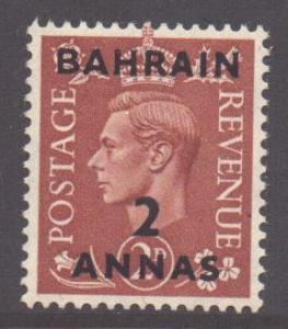 Bahrain Scott 75 - SG74, 1950 George VI 2a MH*