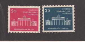 GERMANY - DDR SC# 410-11 F-VF OG 1958
