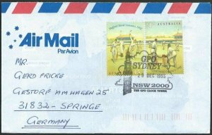AUSTRALIA 1993 cover to Germany - nice franking - Sydney Pictorial pmk.....47150