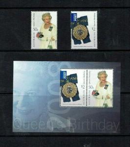 Australia: 2008, Queen's Birthday,  MNH set, + miniature sheet