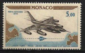 Monaco Air Mail 1964 Scott# C64 MNH