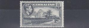 GIBRALTAR  1938 - 51    S G  124B   2D  GREY  PERF 13    MH  SIDEWAYS WMK