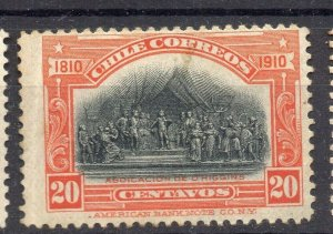 Chile 1910 Centenary Early Issue Mint hinged Shade of 20c. NW-13188