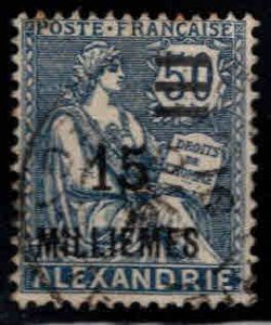 French office in Alexandria Egypt Scott 70 Used surcharged stamp