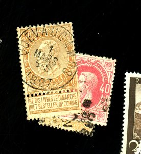 Belgium #34-35 70 Used Cat $31