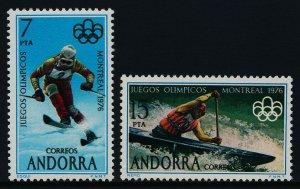 Andorra Sp 94-5 MNH Montreal Olympics, Slalom, Canoe