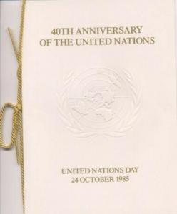 UN #447/9 40th ANNIVERSARY PRESENTATION FOLDER