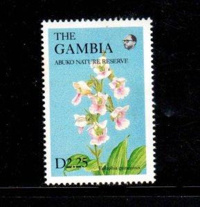 GAMBIA #689A  1987  2.25d  WILDFLOWERS  MINT VF NH  O.G