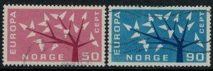 Norway #414-5  CV $2.25  Europa