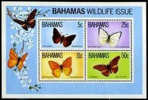 HERRICKSTAMP BAHAMAS Sc.# 542A 1983 Butterfly Souvenir Sheet Mint NH