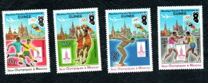 1980 - Guinea - Guinée - Olympic games Moscow 1980 - Complete set 4v.MNH**