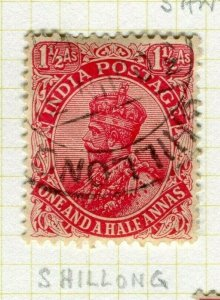 INDIA; POSTMARK fine used cancel on GV issue, Shillong