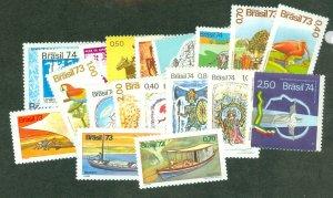 selection Brazil 1974 mint 21 different CV $42