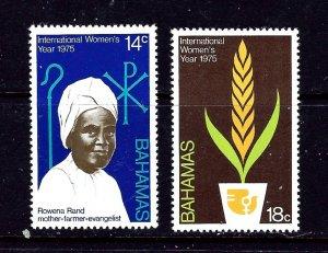 Bahamas 378-79 MNH 1975 Intl Womens Year