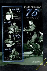 TUVALU #1105  2010      ELVIS PRESLEY   MINT VF NH  O.G  SHEET 4