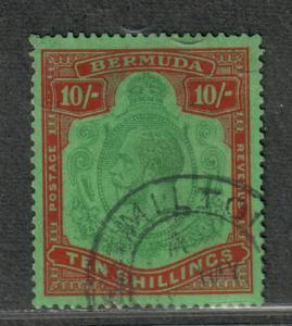 Bermuda Sc#96 Used/VF, Wmk #4, Cv. $300