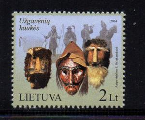 Lithuania Sc 1019 2014 Shrove Tuesday Masks stamp mint NH