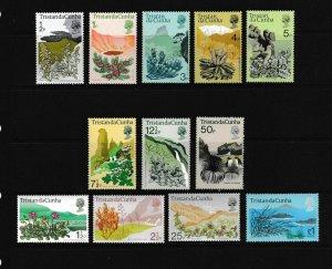 TRISTAN DA CUNHA - 1972 FLOWERING PLANT DEFINITIVES - SCOTT 162 TO 173 - MNH