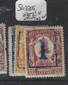 HAITI  (P1606B)    SC 235, 237 238     MOG