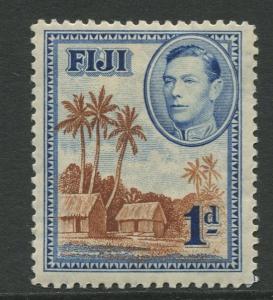 Fiji - Scott 118 - KGVI - Definitive - 1938 - MLH - Single 1d Stamp
