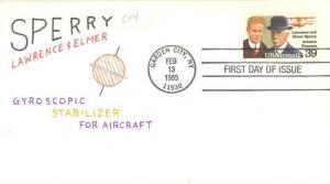 US C114 FDC - Lawrence & Elmer Sperry - HP Charlton Cachet