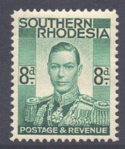Southern Rhodesia Scott 47 - SG45, 1937 8d Emerald Green MH*