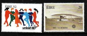 Ireland-Sc#1006-7-unused NH set-UNICEF-UNESCO-1996-