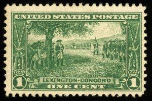 B671 U.S. Scott #617 1c Lexington Concord mint OG hinged